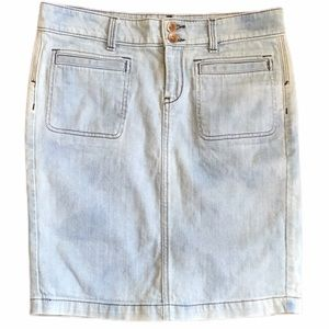 Banana Republic W28 Light Wash Denim Skirt